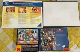 Lot of 4 Jigsaw Puzzle  1000PC 350PC Puppy Ravensburger Dog Marvel Avengers image 2