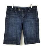 GAP 1969 Limited Edition Womens 2 Trouser Jean Shorts Denim Stretch Dark... - $16.89