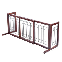 Wood Gate Adjustable Pet Fence Playpen - $92.49