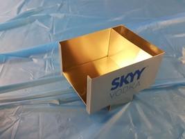Skyy Vodka Stainless Steel Bar Caddy Napkin/ Stir Stick Holder - $13.99