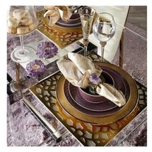 Z Gallerie Monaco Placemat - Set Of 4 Gold - $39.59