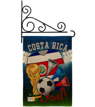 World Cup Costa Rica Soccer Burlap - Impressions Decorative Metal Fansy ... - $33.97
