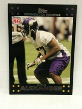 2007 Topps Football - #369 - Rufus Alexander - Line Backer - Minnesota V... - $2.00