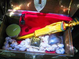 HAUNTED MAGICKAL FILLED BOX ROYAL SECURITY PROTECT WEALTH MONEY SUCCESS ... - $222.22