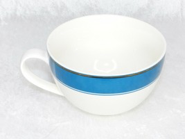 Starbuck Mug Holiday 2006 Coffee Cup White Baby Blue Square Print 12fl oz - $15.30