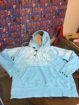Men's Arizona Jean Blue Hoodie Sweatshirt Fur Hood Large Good Condition - $17.81