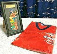 2002 Fifa World Cup Korea Japan Pin Badge &T Shirt Rare Set Of 2 Coca Cola - $40.00