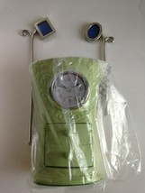 "AVON DECORATIVE ACCENT CLOCK HARLOGE GREEN 4"" x 5 3/8"", 2 Stick Picture ... - $15.64"