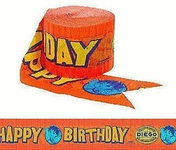 Festive Diego's Biggest Rescue Birthday Party Crepe Streamer Decoration,... - $1.99