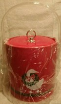 5 piece RED ICE BUCKET GOOSE 4 Double Old Fashioned HOLIDAY CHRISTMAS - $29.57