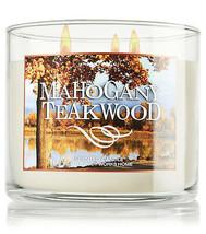 Bath & Body Works Mahogany Teakwood Three Wick 14.5 Ounces Scented Candle - $22.49