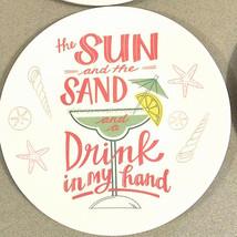 """Melamine Tidbit Appetizer Dessert Plates 6"""" Set of 4 Beach House Margari... - $318,28 MXN"""