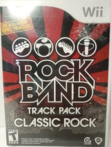 Rock Band Track Pack: Classic Rock (Nintendo Wii, 2009) -Complete TESTED... - $15.99