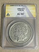 1880-O Nice New Orleans Minted ANACS AU50 VAM-34  Morgan Silver Dollar - $57.85