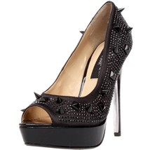 HIGHEST HEEL Sexy Open Toe Rhinestone Platform Pump Spiked Upper FOXY-10... - $84.95