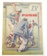 1977 Paper Insert TV Guide Highlights Baseball All-Star Game - $5.97