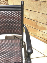 Outdoor Chairs Set Of 2 Cast Aluminum Patio Furniture Dining Wicker Balcony image 5