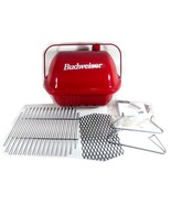 Vintage Little Pal Portable BBQ Grill Smoker Tailgater Red Budweiser 198... - $195.87