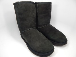 UGG Australia Classic Short Sheepskin Black Boots Size 9 M (B) EU 40  Model 5825