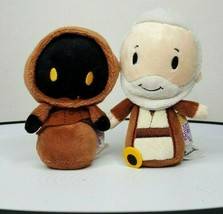 "Hallmark Itty Bittys 5"" Star Wars BEN KENOBI & JAWA Plush Stuffed Toy Ju... - $11.87"