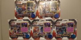 Pokemon TCG Burning Shadows Manufacturer Error (5) 3-Pack Booster Bliste... - $99.99