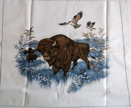 """Buffalo Quilting Crafting Sewing Pillow Panel 14.25""""x12.5"""" Cranston Scre... - $5.24"""