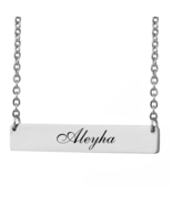 Custom Any Name Bar Necklace Christmas Mother Day Gift for Aleyha - $9.99+