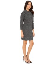 NWT CD5WL047 Calvin Klein Women's L/S Metallic Sweater Dress BLACK MEDIU... - $42.99