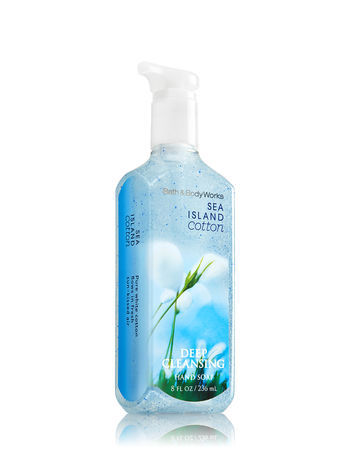 Bath & Body Works SEA ISLAND COTTON Deep Cleansing Hand Soap 8 oz (Lot of 2)