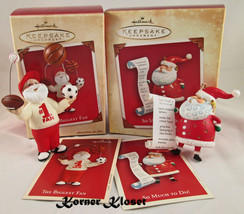 "Hallmark 2002 ""The Biggest Fan"" & 2004 ""So Much To Do"" Christmas Ornamen... - $14.46"