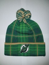 NHL New Jersey Devils SP17 St. Patrick's Day Cuffed Knit Headwear with Pom Green - $14.01