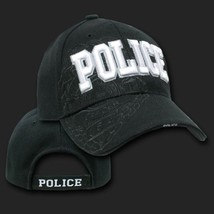 Police Shadow Black Embroidered 3D Hat Cap - $31.58