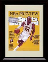 Framed Kobe Bryant Sports Illustrated Autograph Print - NBA Preview - Lo... - $39.99