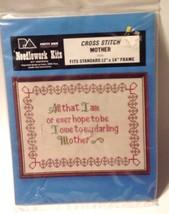 "Craft Kit Cross Stitch Mother Tribute Patty Ann Needlework #224 New 11""X14"" - $12.38"
