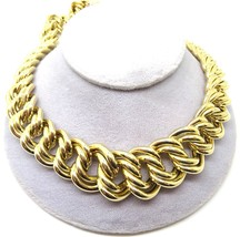 Italian 14k Yellow Gold Necklace with Wide Links (#J3782) - $3,415.25
