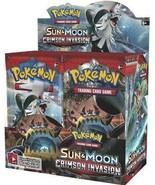 Sun & Moon Crimson Invasion 18 Booster Pack Lot 1/2 Booster Box POKEMON TCG - $58.99