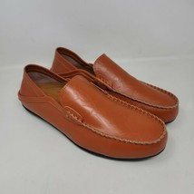 Go Tour Men's Brown Leather Loafers Moccasin Driving Slip On Shoes Sz 12 M - $32.84