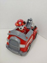 Paw Patrol Marshall Dalmatian figure fire truck engine Spin Master Nicke... - $8.90