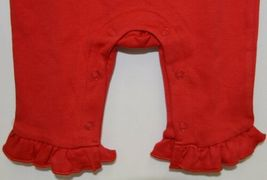 Blanks Boutique Red Long Sleeve Snap Up Ruffle Romper Size 6M image 4