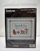"Janlynn ""Dreamland Sampler"" Birth Record Counted Cross Stitch Kit #57-34 - $18.95"