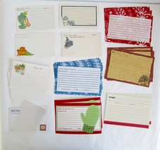 Vintage Mixed Lot of 54 Vintage Blank Recipe Cards and 6 Recipe Protectors - $16.00