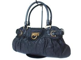 Authentic SALVATORE FERRAGAMO Gancini Leather Black Shoulder Bag FS13597L - $198.00