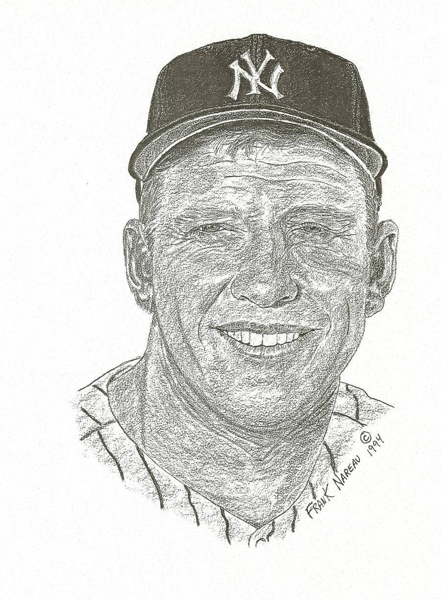 mickey mantle frank nareau 1994 print limited edition new york yankees