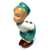 "Vintage Ceramic Kissing Dutch Boy Hand Painted Figurine 6.5"" Signed Olga - $10.00"