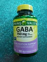 Gaba 750mg Relaxation Support, 100 Vegetarian Capsules Gamma Aminobutyric Acid - $16.99