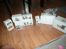 Dept 56 5 PCS OF 8 BENCH CHOIRBOYS MAILBOX HYDRANT 3 CAROLORS KINGS ROAD... - $29.69