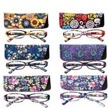 Reading Glasses Women Square Flower Frame Eyewear Glasses Farsighted - $9.26+