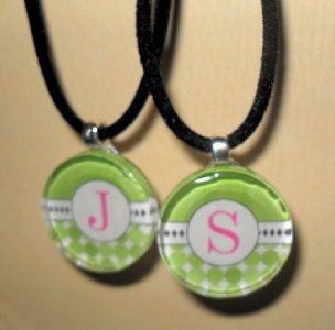 Choose your own Initial Glass Tile Pendant Necklace