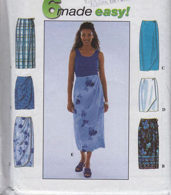 8527 Simplicity Misses Skirt 6 Easy Styles Size 12 to 16 NEW