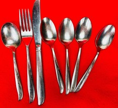 Oneida Twin Star - Vintage Stainless Flatware Lot Teaspoons Fork Knife S... - $48.51